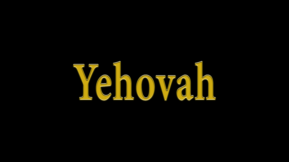 Yehovah-style font